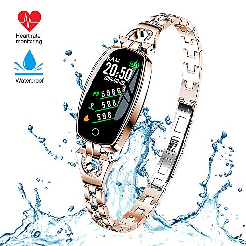 GerTong Smart Watch, H8 Activity Fitness Tracker Color Screen Watch Wristband with Heart Rate Test, Bluetooth Watch Waterproof Activity Step Tracker Sports Bracelet with Calorie Sleep Monitoring etc