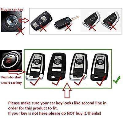 M.JVisun Soft TPU Case Cover Protector Case for BMW Key Fob, Car Remote Key Fob Case for BMW 1-Series 2 3 4 5 6 7 Series X3 X4 M2 M3 M4 M5 M6 Fob Remote Key - Glossy Blue - Metal Keychain: Automotive