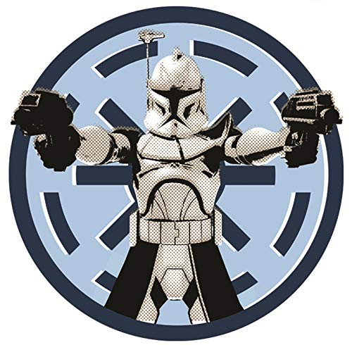 3 Inch Clone Wars Stormtrooper Imperial Logo Decal Star Wars Storm Trooper Removable Wall Sticker Art Home Decor 2 1/2 by 2 1/2 Inches Tall ()