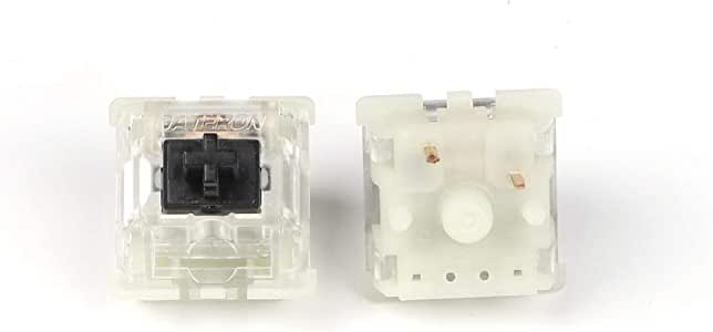 Gateron Silent MX Switch 5 pin Transparent Case Black Red Brown Switches for Mechanical Keyboard Cherry MX Compatible