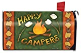 Briarwood Lane Happy Campfire Fall Magnetic Mailbox Cover Standard Autumn Camping