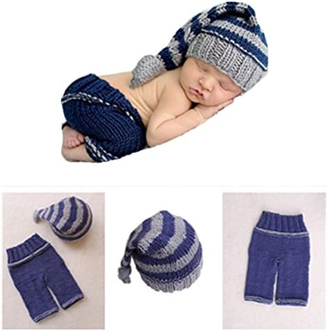 757b30870f9 Fashion Newborn Baby Photography Props Boy Girls Photo Shoot Props Outfits  Crochet Knitted Costume Unisex Cute Infant Hat