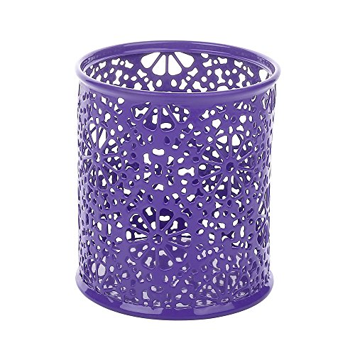 Crystallove Metal Mesh Office Supplies Desk Organizer, Purple-Style 2, Set of 3 by Crystallove (Image #3)