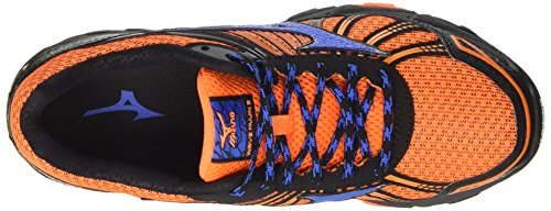 Mizuno Herren Wave Hitogami 4 (W) Traillaufschuhe Orange (Clownfish/strong Blue/dark Shadow)