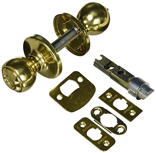 KWIKSET 94002-831 Security Polo Entry Lockset, Polished Brass