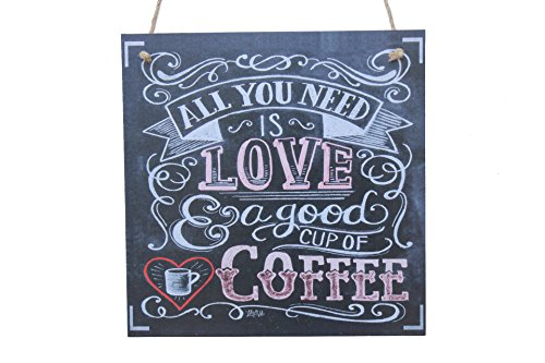 All You Need Is Love A Good Cup Of Coffee Chalk Sign By meijiafei