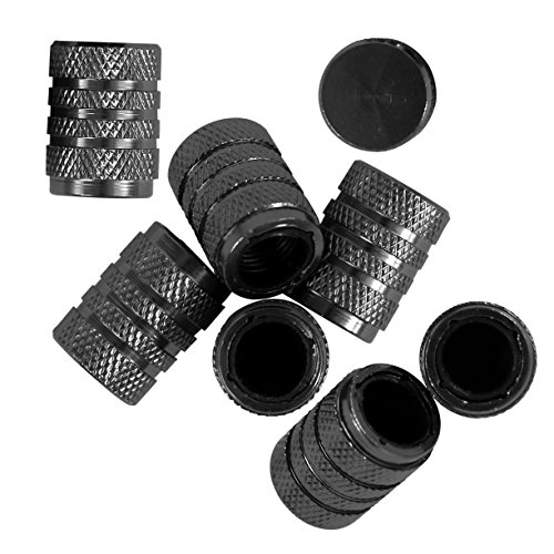 Bell / Monkey Grip Flat Top Schrader Valve Stem Caps, 8-Pack, Anthracite