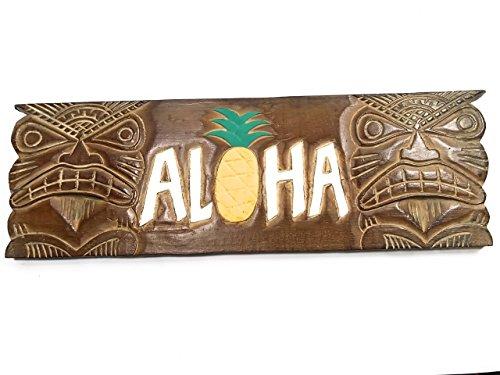 (Aloha Tiki Sign w/Pineapple 24