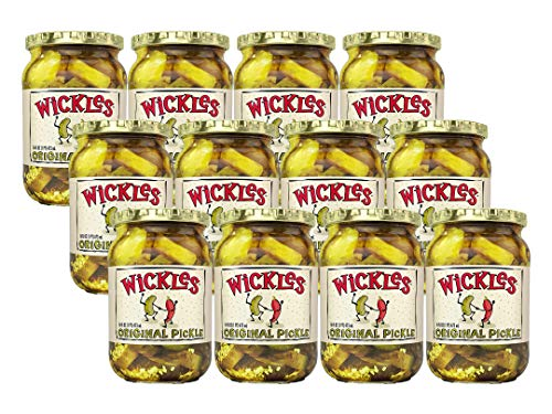 Wickles Original Slices, 16 oz (Pack - 12) (Best Refrigerator Garlic Dill Pickles Recipe)