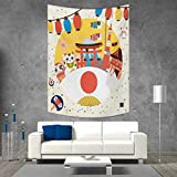 smallbeefly Lantern Tapestry Wall Tapestry Japanese Inspired Commercial Pattern Various Asian Culture Items Cool Cat Origami Art Wall Decor 51W x 60L INCH Multicolor