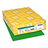 Wausau Astrobrights(R) Recycled Bright Color Paper, 8 1/2'' x 11'', 24 Lb, Gamma Green, Ream Of 500 Sheets