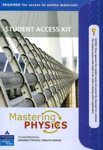 Mastering Physics for University Physics: Student Access Kit