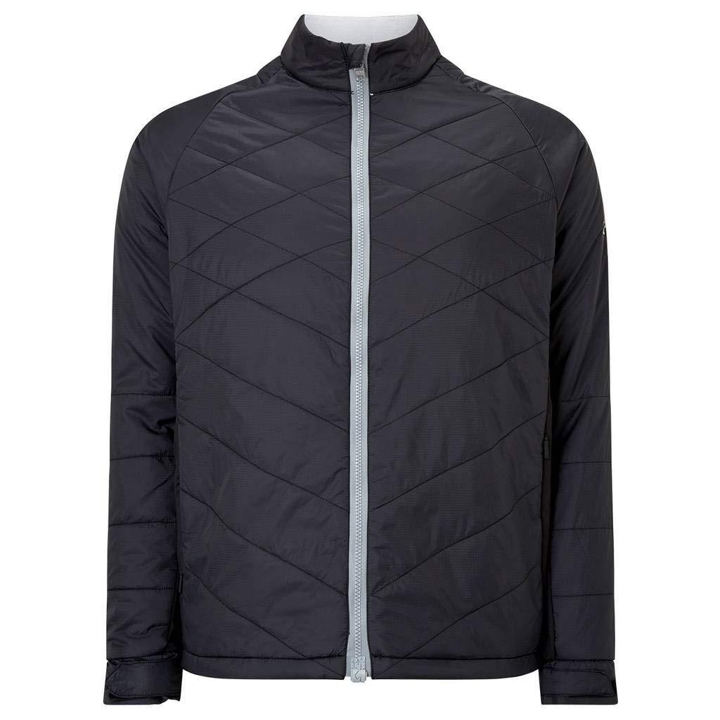 Callaway Golf 2018 Mens Full Zip Chev Thermal Puffer Jacket Caviar XL by Callaway