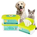 Pupmate All Natural Pet Grooming Wipes, 100 Fresh Counts, Extra Moist & Thick, Rapid Deodorizing and Cleanup, Hygienic and Hypoallergenic Pet Care for Dogs & Cats, Puppies & Kittens (Aloe)