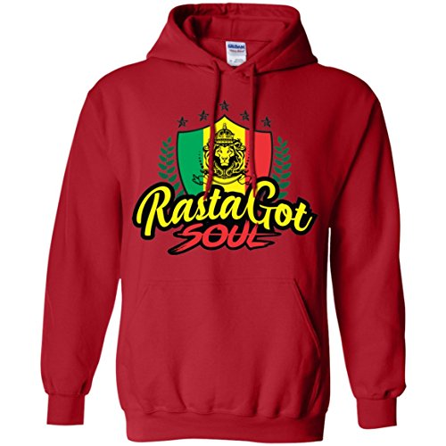 - TAC Brands Rasta Got Soul Mens Hooded Fleece Sweatshirt Active-wear & Fashionable