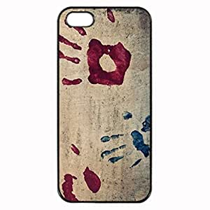 iPhone 5 5S Case - Handprints Patterned Protective Skin Hard Case Cover for Apple iPhone 5 / 5S - Haxlly Designs Case