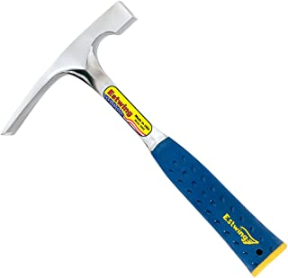 product image for Estwing Bricklayer's/Mason's Hammer - 24 oz Masonary Tool with Forged Steel Construction & Shock Reduction Grip - E3-24BLC