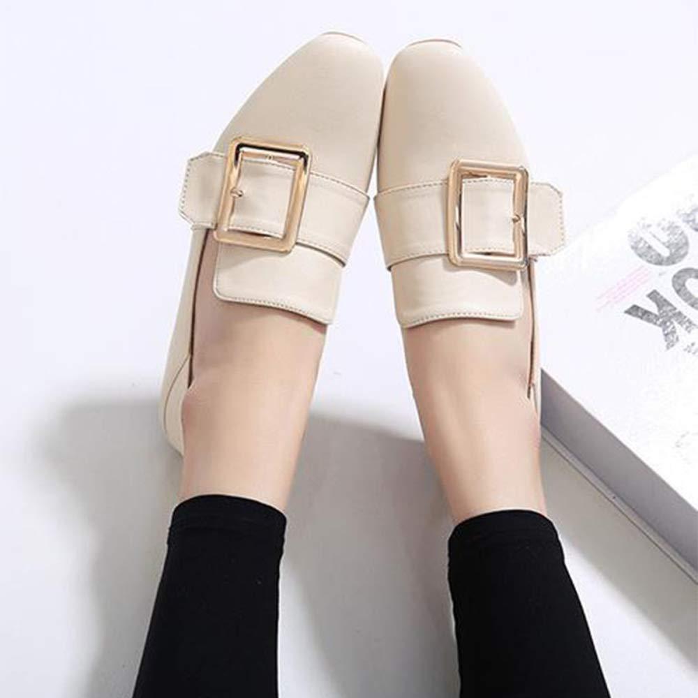 TZQ TZQ TZQ Schuhe Der Flachen Schuhfrauen Quadrieren Schnalle EIN Pedalfrauen Weiche Quadratische Schuhe  73a59c