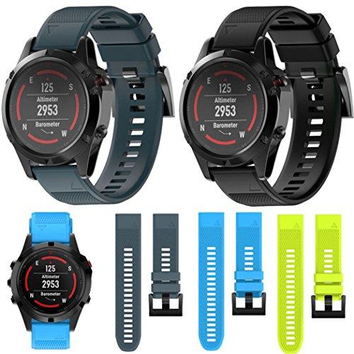 Garmin Fenix 5 Watch Band, MoreToys Silicone Quick Fit Wrist Band Replacement Straps Bracelet for Garmin Fenix 5 Smart Watch
