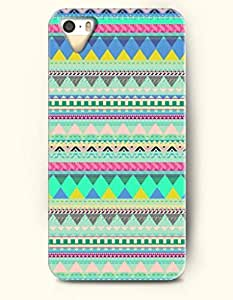 OOFIT Aztec Indian Chevron Zigzag Native American Pattern Hard Case for Apple iPhone 5 5S ( iPhone 5C Excluded ) Green Aztec Ethic Tribal Pattern