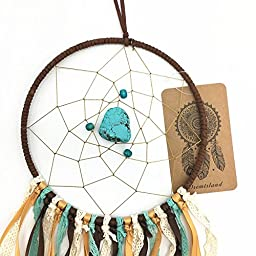 Dremisland Dream catcher handmade traditional vintage multi-color dream catcher wall hanging car hanging home decoration ornament gift ~5.9inch