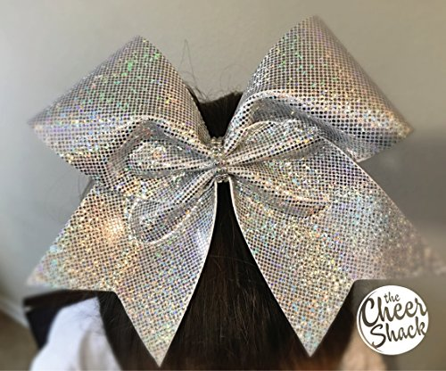 Silver Cheer Bow, Hair Bow - Image 1