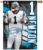 : WinCraft NFL Carolina Panthers Cam Newton Two-Sided Vertical Banner, 28 x 40-Inch