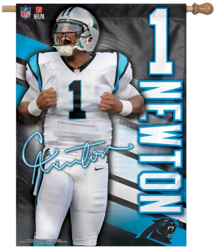 [NFL Carolina Panthers Cam Newton Two-Sided Vertical Banner, 28 x 40-Inch] (Premium 2 Sided Banner Flag)