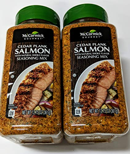 (McCormick Gourmet Cedar Plank Salmon Seafood Seasoning 12.75 ounce (Pack of 2))