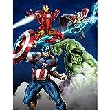 Marvel Avengers Blue Circle Fleece Plush Throw