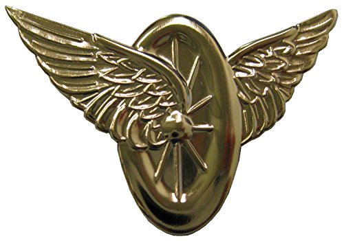 Motorcycle Officer Wings and Wheel Motorcycle Police Pin - Gold ()