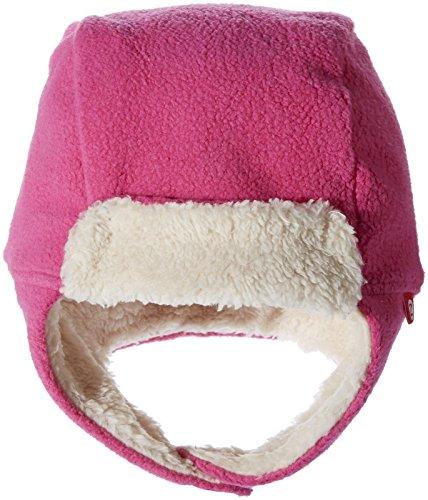 Zutano Girls' Cozie Fleece Furry Trapper Hat, Fuchsia, 3T