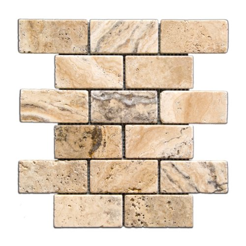 Tumbled Stone Backsplash Tile Amazon Com
