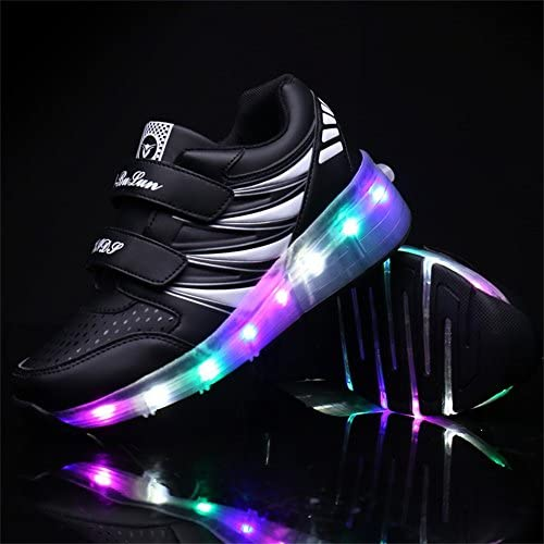 Ufatansy USB Charging Shoes Roller Shoes Girls Roller Skate Shoes Boys - 2