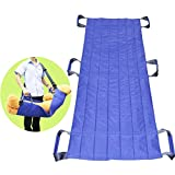 """LUCKYYAN 6 Handle Lengthened Nursing Shift Belt - 61.41"""" x 28.34"""" Slide Sheet for Patients who are able to assist - Blue"""