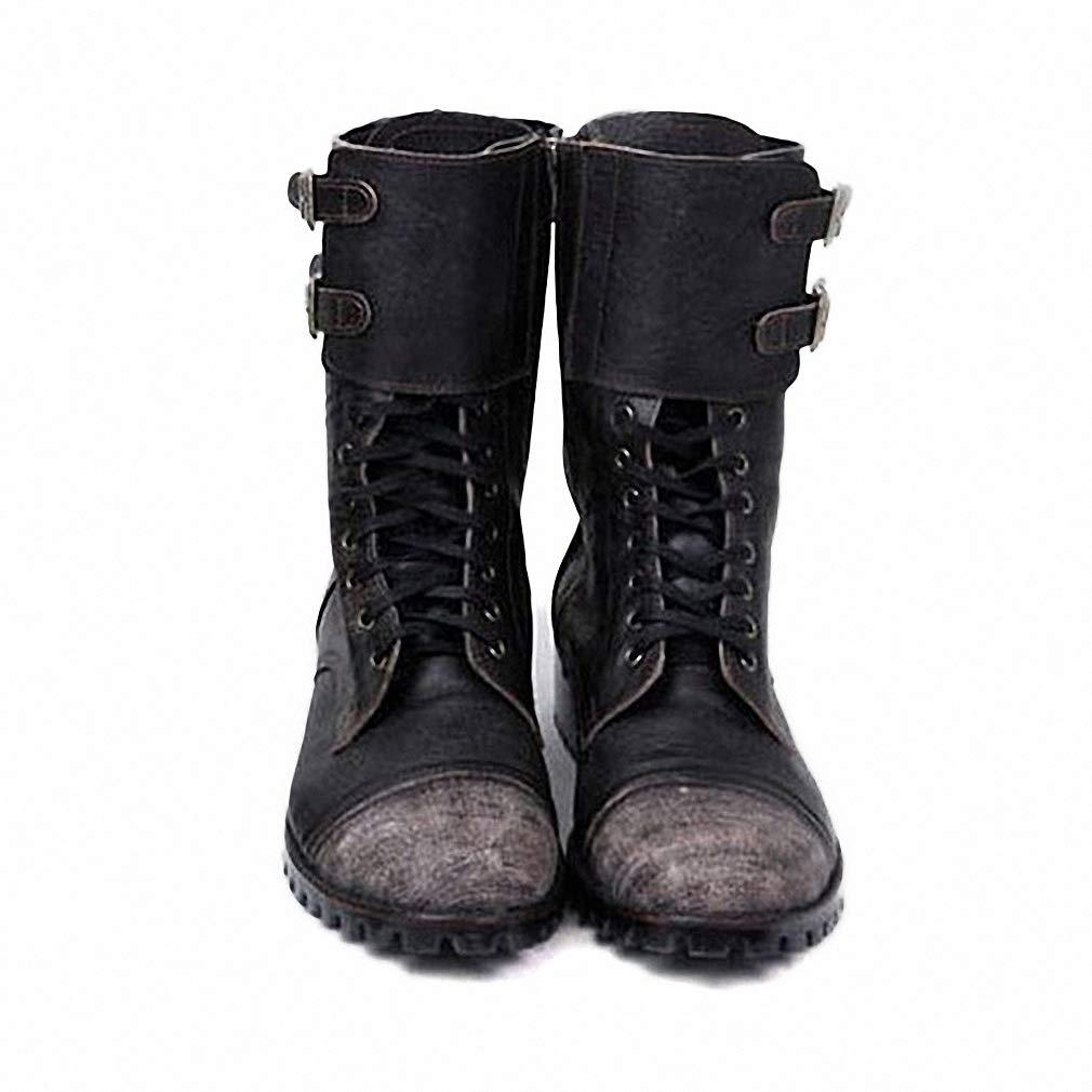 a50de8e3ee1b1 Amazon.com: Tebapi Mens Backpacking Boots Retro Military Boots Men ...