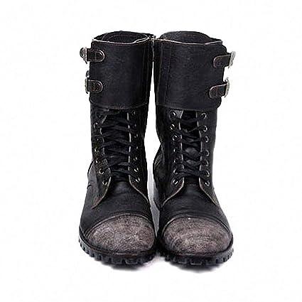 Amazon.com Tebapi Mens Backpacking Boots Retro Military