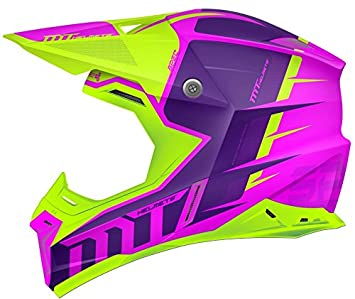 MT - Casco Cross SYNCHRONY SPEC GLOSS Fucsia y Verde Flúor (M)