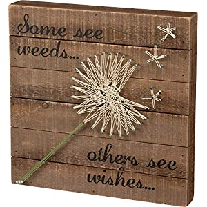 Primitives by Kathy String Art Box Sign, Dandelion-Wishes