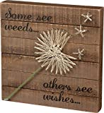Cheap Primitives by Kathy String Art Box Sign, Dandelion-Wishes