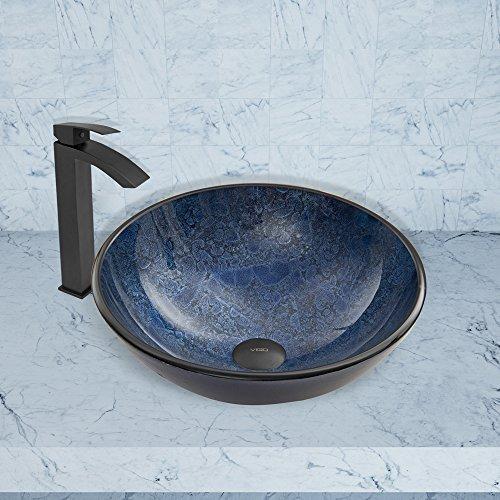 60%OFF VIGO Indigo Eclipse Glass Vessel Bathroom Sink