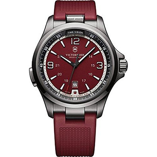 Victorinox 241717 Swiss Army Men's Night Vision Red Rubber Strap - Fashion Island Macy's