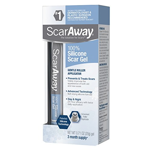 ScarAway Scar Treatment Gel, Clinically Supported to Flatten and Soften...