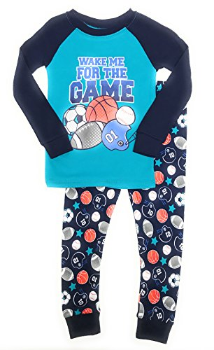 Baby and Toddler Boys Snug Fit Graphic Pajama Long Sleeve Shirt and Pants Two-Piece Set (5T, Game - Altitude Pant