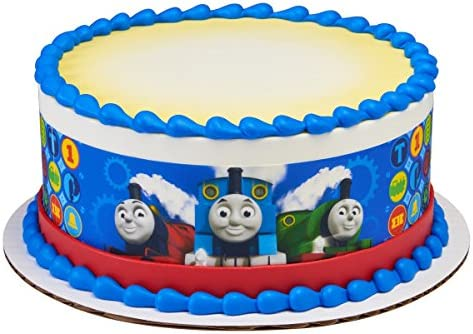 Outstanding Amazon Com Thomas All Aboard Licensed Edible Cake Strips 21751 Personalised Birthday Cards Paralily Jamesorg