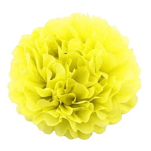 Toyvian 20 cm Pompones de Papel Bolas de Flores Pom Poms ...