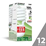 Feit ESL65TN 300W Equivalent CFL Twist Bulb (Pack of 12), Soft White