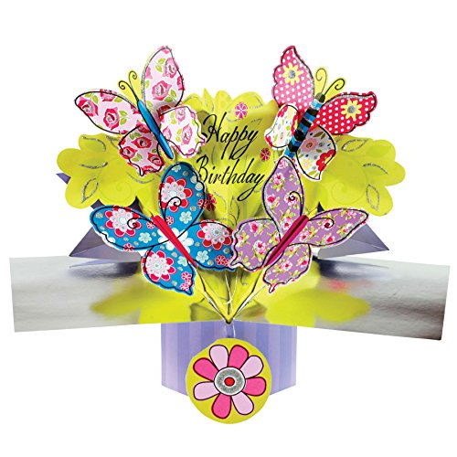 SECOND NATURE POP UPS - 034 - BUTTERFLY - Birthday Card