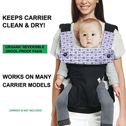 Kyapoo Baby Drool and Teething Pad Reversible Organic Cotton Bibs 3 Piece Gift Set for Ergobaby Four Position 360 Baby Carrier Black White Arrows by Kyapoo (Image #2)