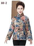98% Mulberry Silk (water gauze technics) Womens Tang Suits Cotton-padded Jackets Coats Womens Jackets Business Jackets Full Dress Formal Dress Winter Dress (88-2)